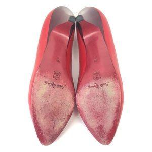 Neiman Marcus Shoes - Vintage Neiman Marcus Red Italian Leather Heels